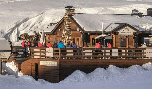 El Moët Winter Lounge, como el resto de establecimientos de restauración, ya está a pleno rendimiento