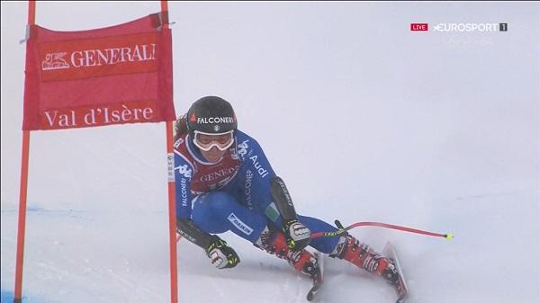 Tras su segunda plaza de ayer Sofia Goggia ha vuelto a subirse al podio, hoy como tercera