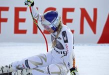 Pese a haber presagiado lo peor, Vonn ha podido salir por su propio pie en St. Moritz