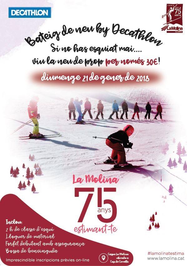 El Bautismo de nieve, este fin de semana en La Molina