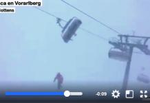 La nieve y el fuerte viento dejaron atrapadas ayer a numerosas personas en Austria