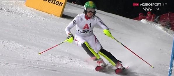 Katharina Liensberger, una de las austriacas de la nueva hornada que suben con fuerza