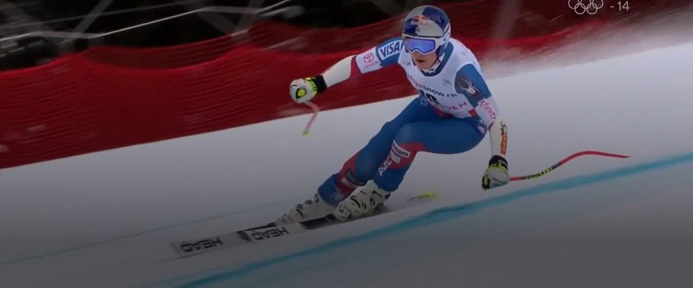 Lindsey Vonn ha sido la más rápida en el super G pero sus carencias en el slalom la han relegado a la cuarta plaza