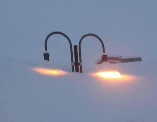 Las farolas de Tignes, la nieve alcanza 5 metros en algunos puntos