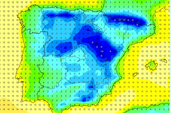 Las temperaturas serán de rigurosos invierno en todas las zonas