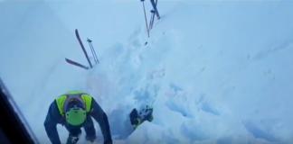 El esquiador de travesía, casi sepultado, fue rescatado por la Guardia Civil de Montaña