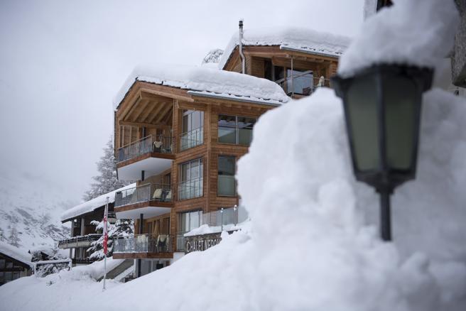 Zermatt ha recibido más de dos metros de nieve en 48 horas