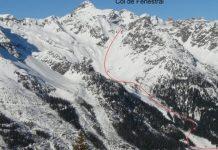 La avalancha habría ocurrido en el lado del Pase Fenestral sobre Finhaut. Una ruta regularmente frecuentada
