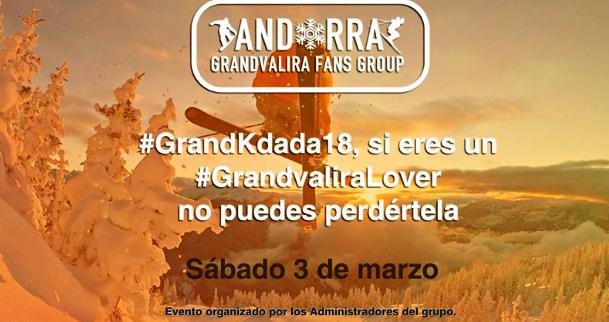 ¿Eres amante de Grandvalira? No te pierdas la #GrandKdada18 del sábado próximo