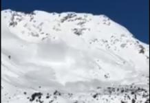 Las elevadas temperaturas aceleraron la caída de nieve