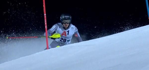 Clement Noel, en la imagen en el slalom de Schladming, ha ganado el oro de slalom con más de dos segundos de ventaja