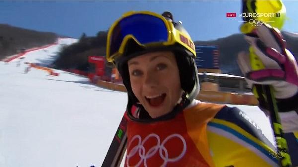 Una actitud positiva fue determinante para que Frida Hansdotter se proclamase campeona olímpica de slalom
