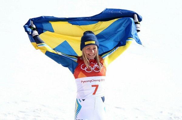 Hansdotter, primera sueca en ganar el oro femenino en slalom desde que Anja Paerson lo lograse en Turín'2006