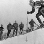 Grenoble descenso JJOO 1968. Antonio Campañá en acción. FOTO: Campañá