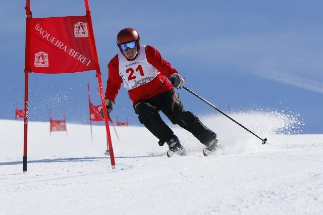 Carrera del SCIJ en Baqueira 2015 después de 13 años sin esquiar y con 2 prótesis de rodilla. Foto: BaqueiraBeret