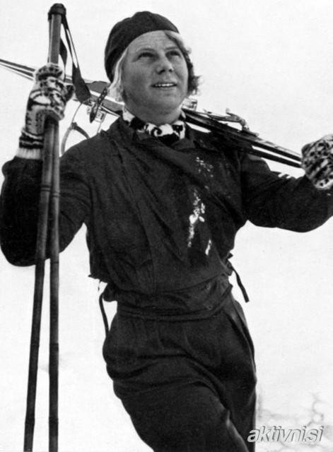 La noruega Laila Schou Nilsen ganó la primera medalla de oro olímpica de alpino al ganar el descenso en Garmisch 1936. Además, fue la mayor impulsora del patinaje de velocidad femenino FOTO: @aktivni
