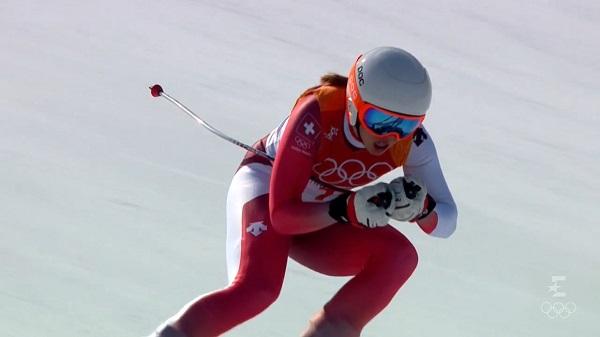 Michelle Gisin ha exhibido su polivalencia y ha confirmado su plata en la combinada del último Mundial ganando el oroen Pyeongchang