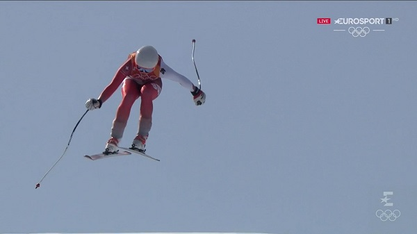 Michelle Gisin ha completado un gran descenso, tercera, que le ha permitido empezar a construir su oro olímpico