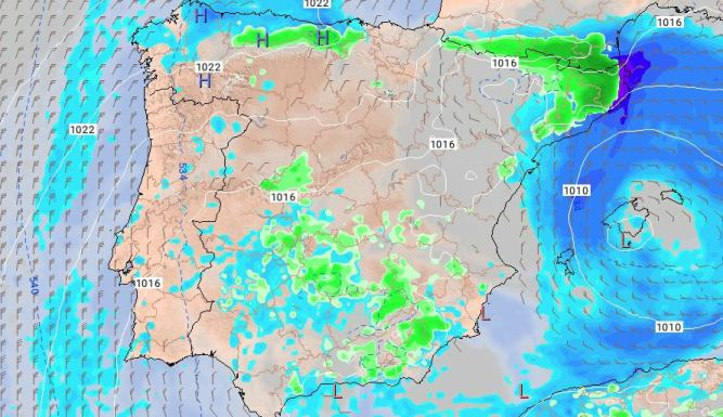 Riesgo de precipitaciones de cara al lunes 5 de febrero