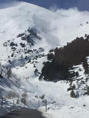 Otro detalle de la caída de la nieve en el Alt de la Cada de Arinsal