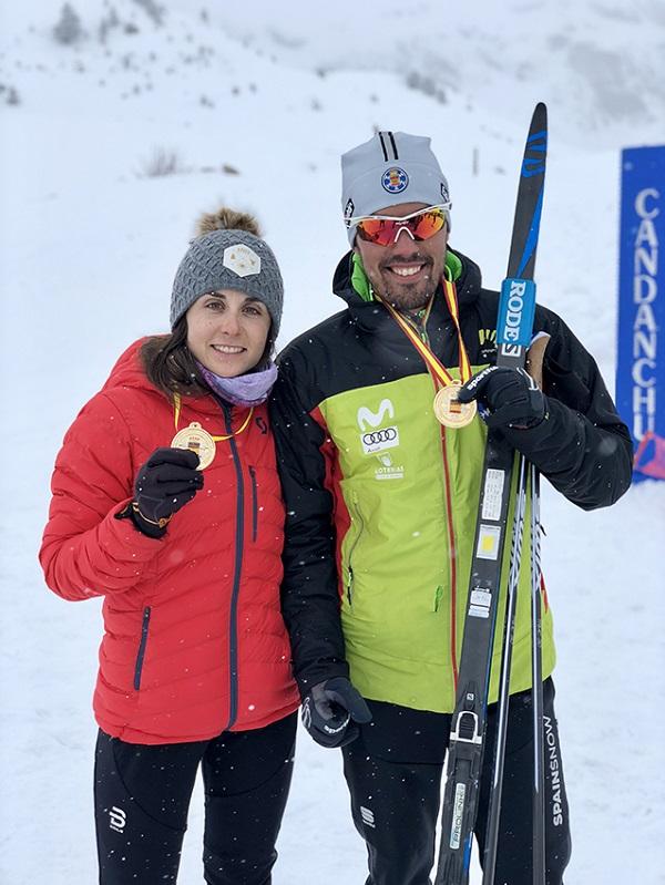 Marta Cester e Imanol Rojo, los vencedores del Campeonato de España en Candanchú FOTO: RFEDI-Spainsnow