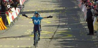 Alejandro Valverde ha sido el vencedor en la meta de La Molina y ha recuperado el liderato de la Volta a Catalunya