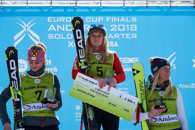 En féminas, Ariene Raedler ha vuelto a subir a lo alto del cajón, acompañada por Nina Ortlieb laLa sueca Lisa Hoernblad