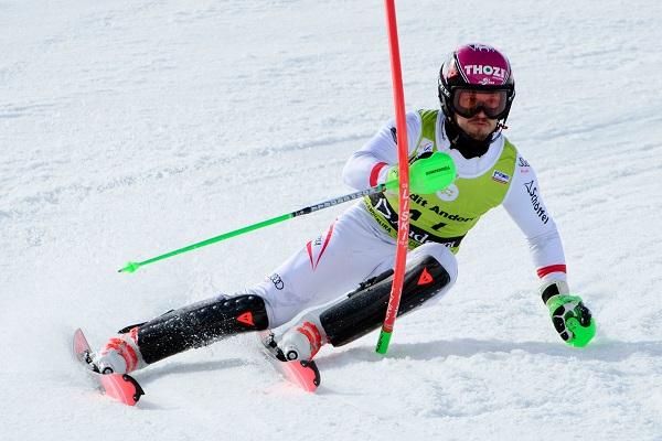Christian Hirschbuehl ha sido el vencedor del último slalom de la Copa de Europa, hoy en Soldeu FOTO: Gustavo Subilibia