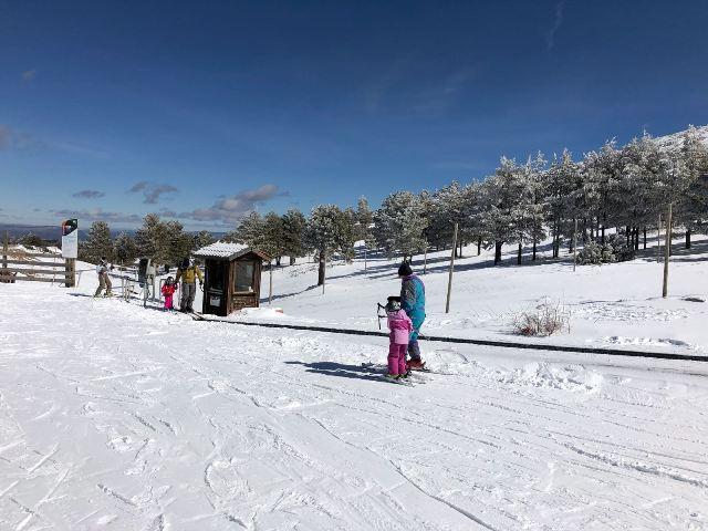 Una vista de la nieve turolense