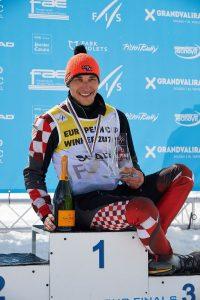 El croata Matej Vidovic ha ganado el Globo de slalom Foto: Oriol Molas