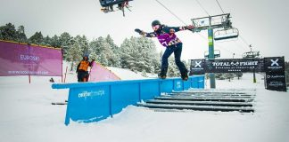 Excelente tercera plaza de María Hidalgo en el Grandvalira Total Fight snowboard FOTO: Grandvalira