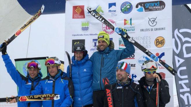 Kilian Jornet y Jakob Hermann, en lo más alto del podio