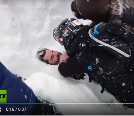Evan Huck fue engullido por una avalancha en el norte de California
