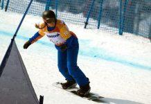 Medalla de bronce en snowboard cross, Fina ha conseguido un diploma olímpico en banked eslalon