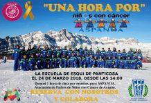 la Escuela de Esquí de Panticosa quiere recaudar fondos para ASPANOA, asociación de padres de niños con cáncer de Aragón