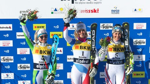 Aline Danioth, campeona del mundo junior de combinada y Globo de slalom