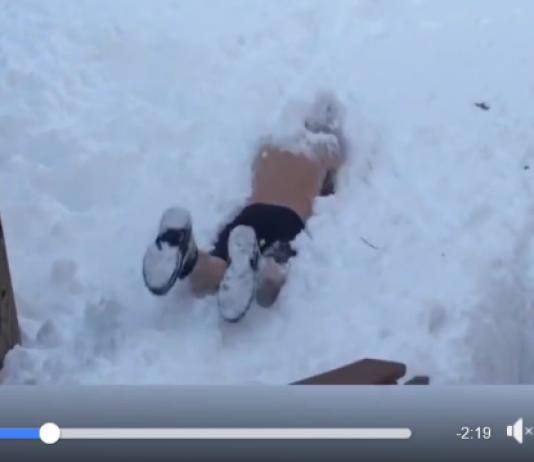 A eso se llama tirarse a la piscina de nieve