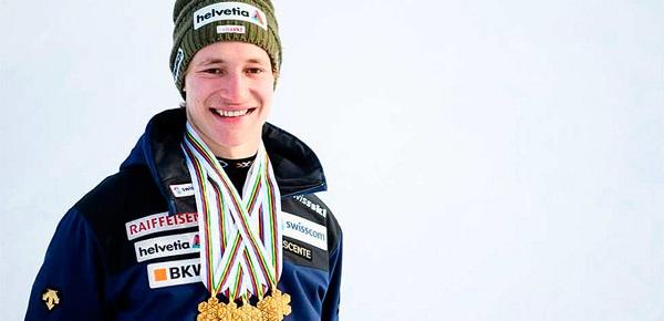 Marco Odermatt, cincooros de seis posibles en el Mundial junior