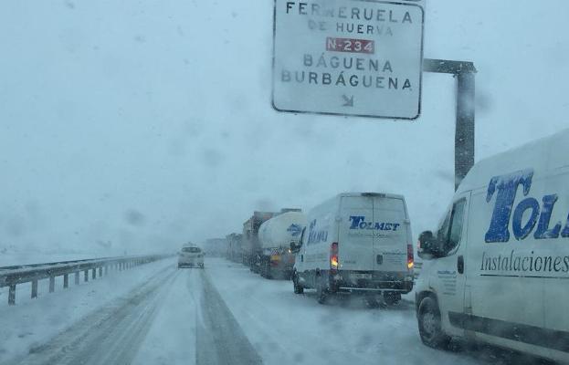 Comunicaciones cortadas entre Teruel y Zaragoza