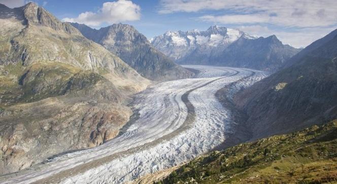 El glaciar Alech (Suiza)