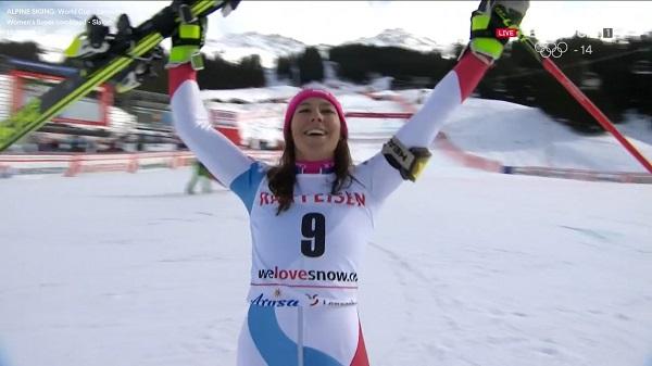 Wendy Holdener, junto a Lara Gut, destacan en el equipo suizo femenino