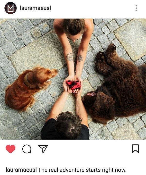 La pareja ha anunciado su próxima paternidad en la cuenta de Instagram de Laura Moisl