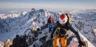 Liz Sansoz en una de la 82 cimas alcanzadas