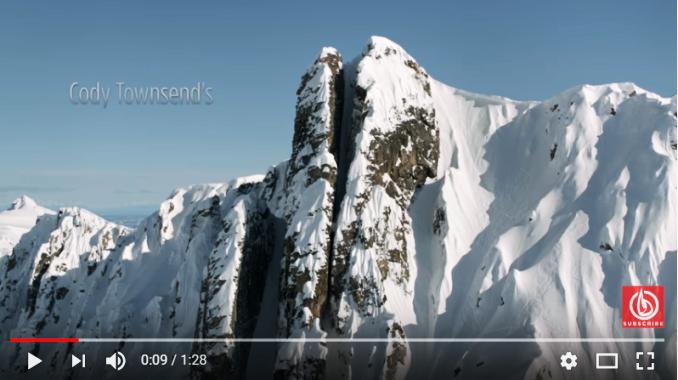 Un descenso por la línea de más pendiente que esconde la montaña