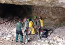 Operativo de la Guardia Civil en una cueva de la Sierra de Albarracín FOTO: Guardia Civil