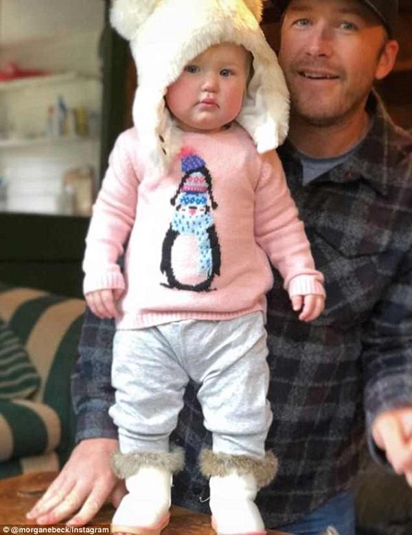 Miller con la pequeña Emeline cuando cumplió un año, el pasado noviembre FOTO: Instagram Bode Miller
