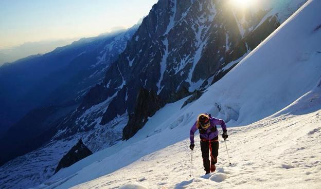 Forsberg durante la subida al Mont Blanc