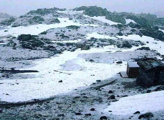 Nevada en el refugio de l'Illa (Andorra)