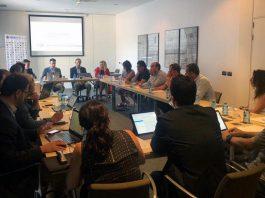 Aspecto de la reunión convocada por la RFEDI con los diferentes estamentos del sector de la nieve. FOTO: RFEDI Spainsnow