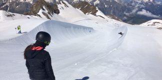 María Hidalgo entrenando en 2 Alpes. FOTO: RFEDI Spainsnow